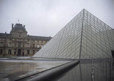 A view of the Louvre museum, in Paris, France, Sunday, March 1, 2020. The spreading coronavirus epidemic shut down France's Louvre Museum. Picture: Rafael Yaghobzadeh