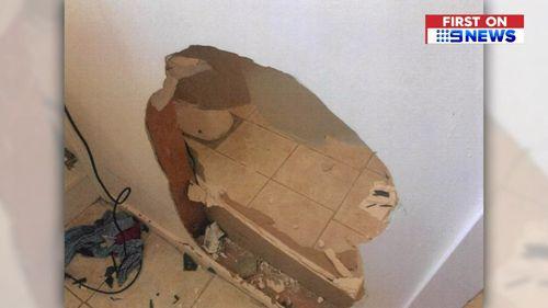A hole straight through a wall.