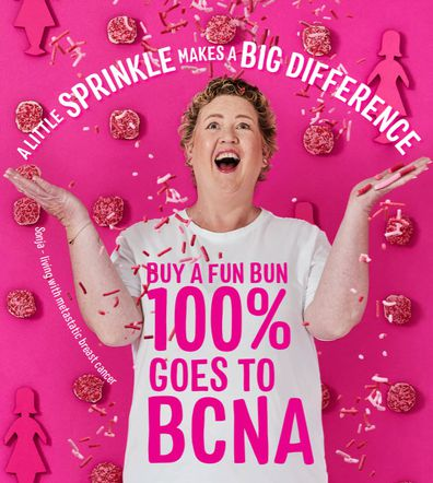 This year Sonja is part of the Baker's Delight 'Pink Buns' campaign.