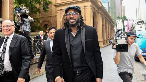 Gayle leaves court.