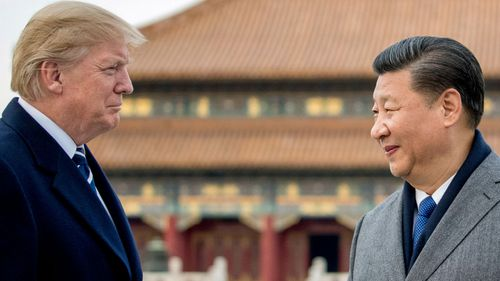 US President Donald Trump and China's President  Xi Jinping at Beijing's Forbidden City last year. (AP).