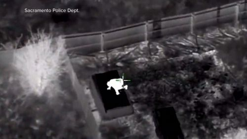A police helicopter tracked the 22 year old's movements (SUPPLIED)