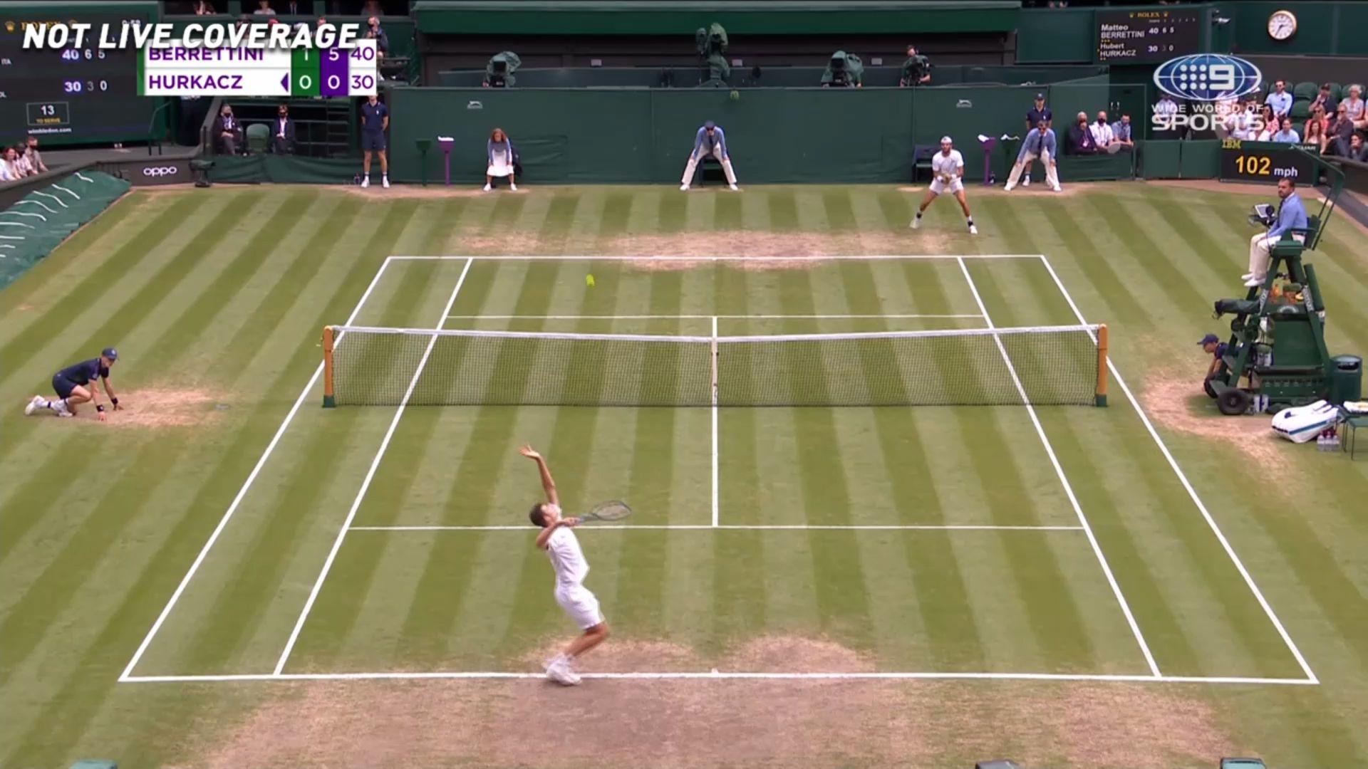 Matteo Berrettini beats Hubert Hurkacz to become first Italian player to reach a Wimbledon final