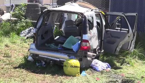 The car sustained substantial damage in the crash.
