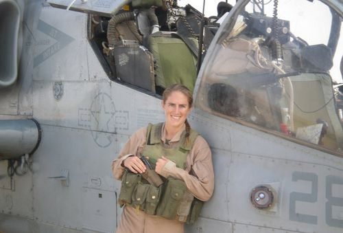 Ms Hunter spent more than a decade as an officer in the US Marine Corps. (Supplied)