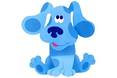 It's <B>Blue</B> from <I>Blue's Clues</I>.