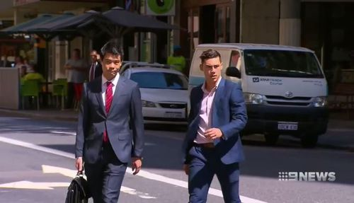 Joshua Billington walked free after being jailed for the attack yesterday. (9NEWS)
