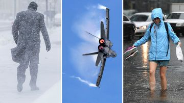 Flying high to a white-out and wild weather: The world's best snaps