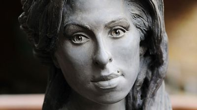"""""""The only problem with the statue of Amy Winehouse is that is looks absolutely nothing like Amy Winehouse,"""" commented LouboutinJools. (Getty)"""