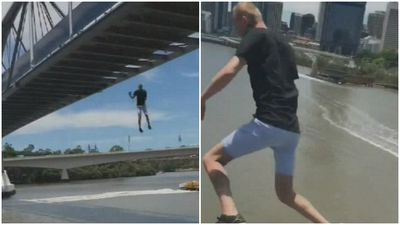 Prankster charged over 'silly salmon' bridge jump
