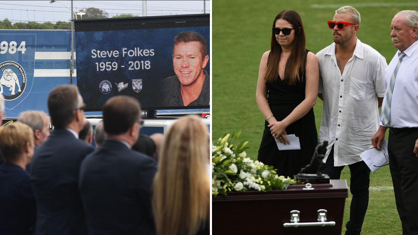 NRL: Canterbury Bulldogs and rugby league community farewell Steve Folkes at Belmore