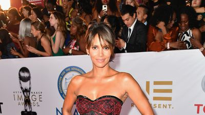 Halle Berry is naked on the red carpet