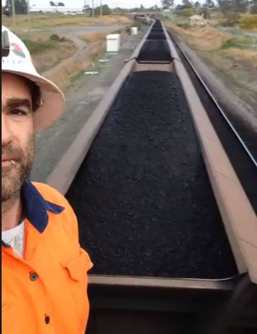 In the live video posted to social media, Weekes voiced his concerns over health problems stemmed from coal dust and from the Newcastle mine.