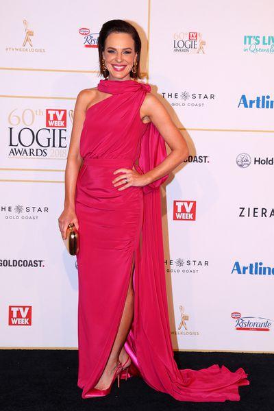 Newsreader Natarsha Belling at the 2018 Logie Awards