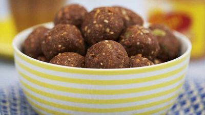 """17.)<a href=""""https://kitchen.nine.com.au/2017/08/16/15/16/will-and-steves-peanut-butter-and-toasted-coconut-protein-balls"""" target=""""_top"""">Will and Steve's peanut butter and toasted coconut protein balls</a>"""