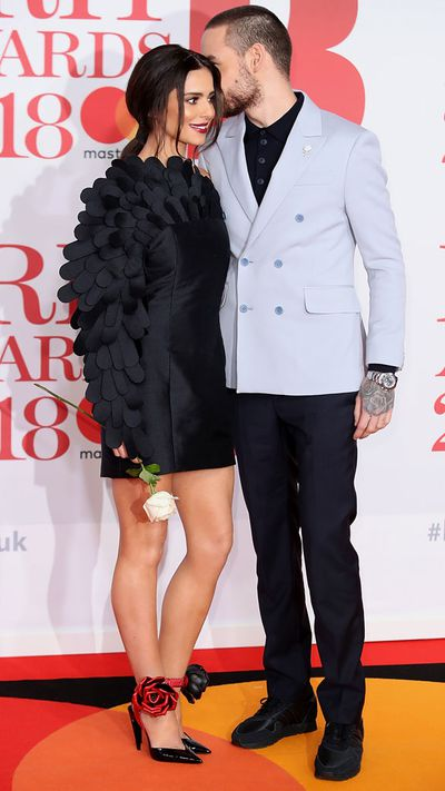 Cheryl in Jean-Louis Sabaji and Liam Payne at the 2018 Brit Awards