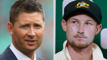 Michael Clarke and Cameron Bancroft