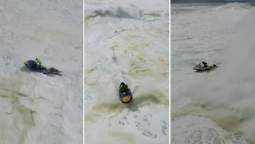 "Lucas ""Chumbo"" Chianca raced out to rescue a fellow surfer, only to have his jet ski overturned. (The Big Ugly)"