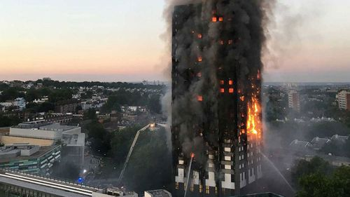 Residents of London's Grenfell Tower were wrongly told to stay in their apartments as fire raged through the high-rise building. (AP)