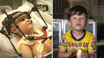 Little boy's 'miracle' recovery after gunshot leaves bullet in spine