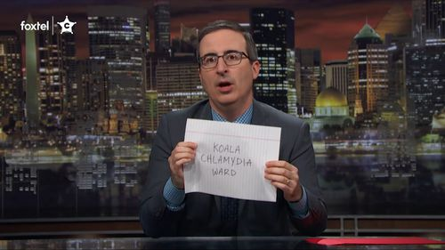 """""""Back when this show started, I wrote down my one and only goal for it...a koala chlamydia ward."""" (Last Week Tonight)"""