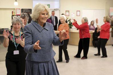 Camilla Duchess of Cornwall dancing