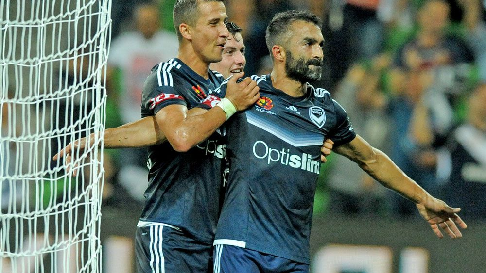 Fahid Ben Khalfallah got on the scorer's sheet for Melbourne Victory. (AAP)