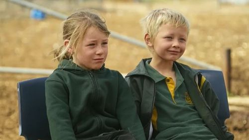 Heidi and Harry Taylor revealed they have been driving the farm ute around for years. Picture: 9NEWS