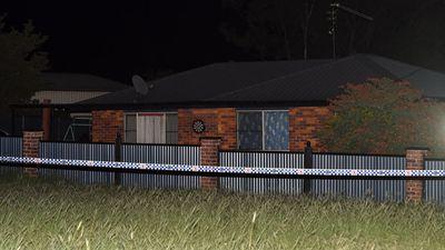 Police tape is seen outside the house in Biddeston. (AAP)