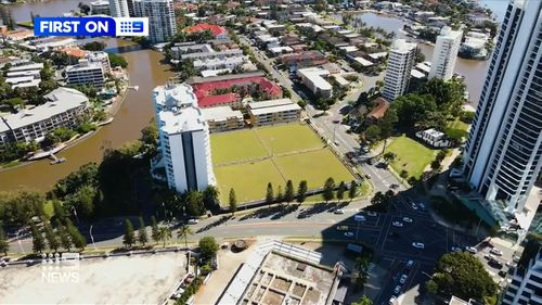 The location is in prime real estate on the glitter strip of the Gold Coast.
