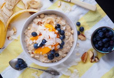 "Recipe: <a href=""http://kitchen.nine.com.au/2016/08/18/14/53/coconut-rice-porridge-with-summer-fruits"" target=""_top"">Coconut rice porridge with fruit</a>"