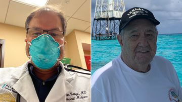 Dr. Carlos Vallejo, left, and his father, Dr. Jorge Vallejo, died of coronavirus within weeks of each other.