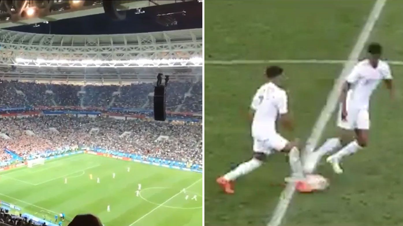 World Cup: Footage shows England attempted cheeky goal while Croatia celebrated match-winning goal