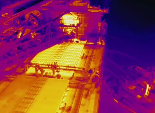 Thermal imaging provides important information to crew on the ground.
