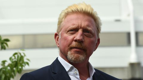 Former tennis players Boris Becker