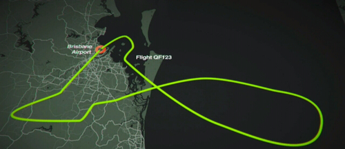 The A330 turned back to Brisbane about 20 minutes after takeoff. (9NEWS)