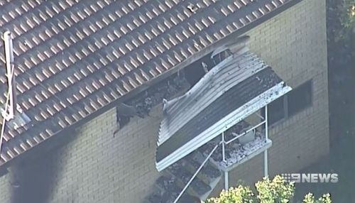 The fire and explosions caused significant damage to the property. (9NEWS)