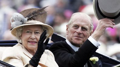 The Queen and Prince Phillip are seen arriving together in the Royal Carriage on the third day of Royal Ascot 2005.