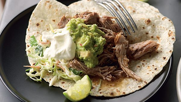Suzanne Gibbs' pulled-pork tortillas