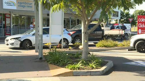 The Yadina girl was hit by a reversing car while on a shopping trip with her family at a Nambour shopping centre last month. Picture: 9NEWS