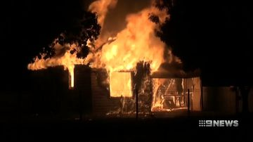 two houses in parkes destroyed by fires overnight