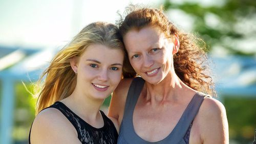 Makayla Tritton and her mother Karin.