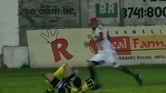 Brazilian football player arrested for kicking referee in head