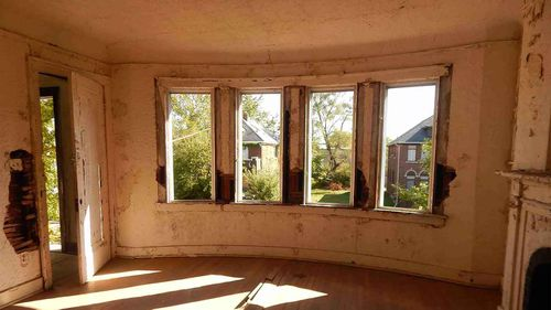 The home is lacking most of its fittings and windows, and has been abandoned for years.