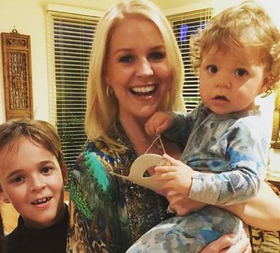 Lauren Newton with sons