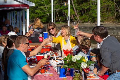 Brown and her family wrapped up a trip to Maine with a picnic at Chauncey Creek Lobster Pier.