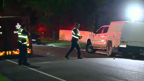 Emergency services were called to Tyler Street just after 9pm last night. (9NEWS)