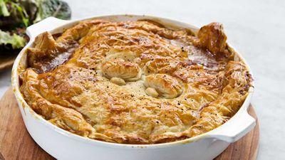 "Recipe: <a href=""http://kitchen.nine.com.au/2017/09/19/11/43/miguel-funguy-chicken-and-mushroom-pie"" target=""_top"">Miguel's funguy chicken and mushroom pie</a><br /> <br /> More: <a href=""http://kitchen.nine.com.au/2016/06/06/20/21/who-ate-all-the-pies-youll-want-to"" target=""_top"">pie recipes</a>"