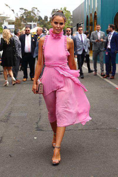 "<p>Actress Jodi Gordon wears the<a href=""http://allthedresses.com.au/product/talulah-jodi-dress-pink"" title=""TALULAH Jodi Dress "" draggable=""false"">TALULAH Jodi Dress</a></p> <p>All The Dresses</p> <p> Rental price $109</p> <p> Retail price $350</p>"