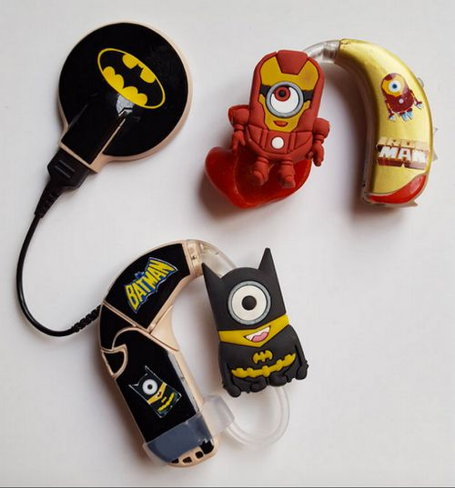 A range of different hearing device decorations. (mylugs.co.uk)